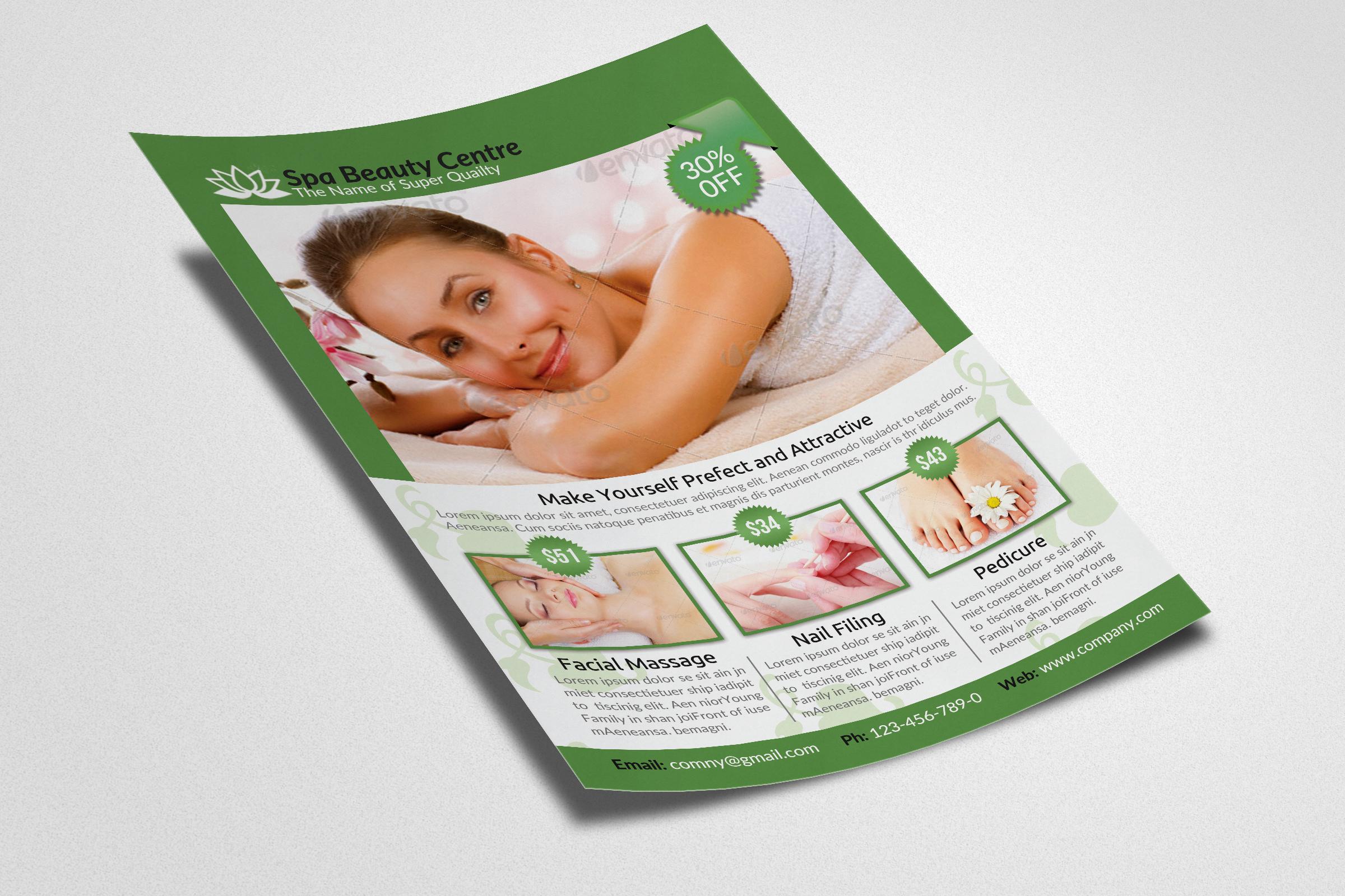 Beauty Spa & Massage Flyer example image 2