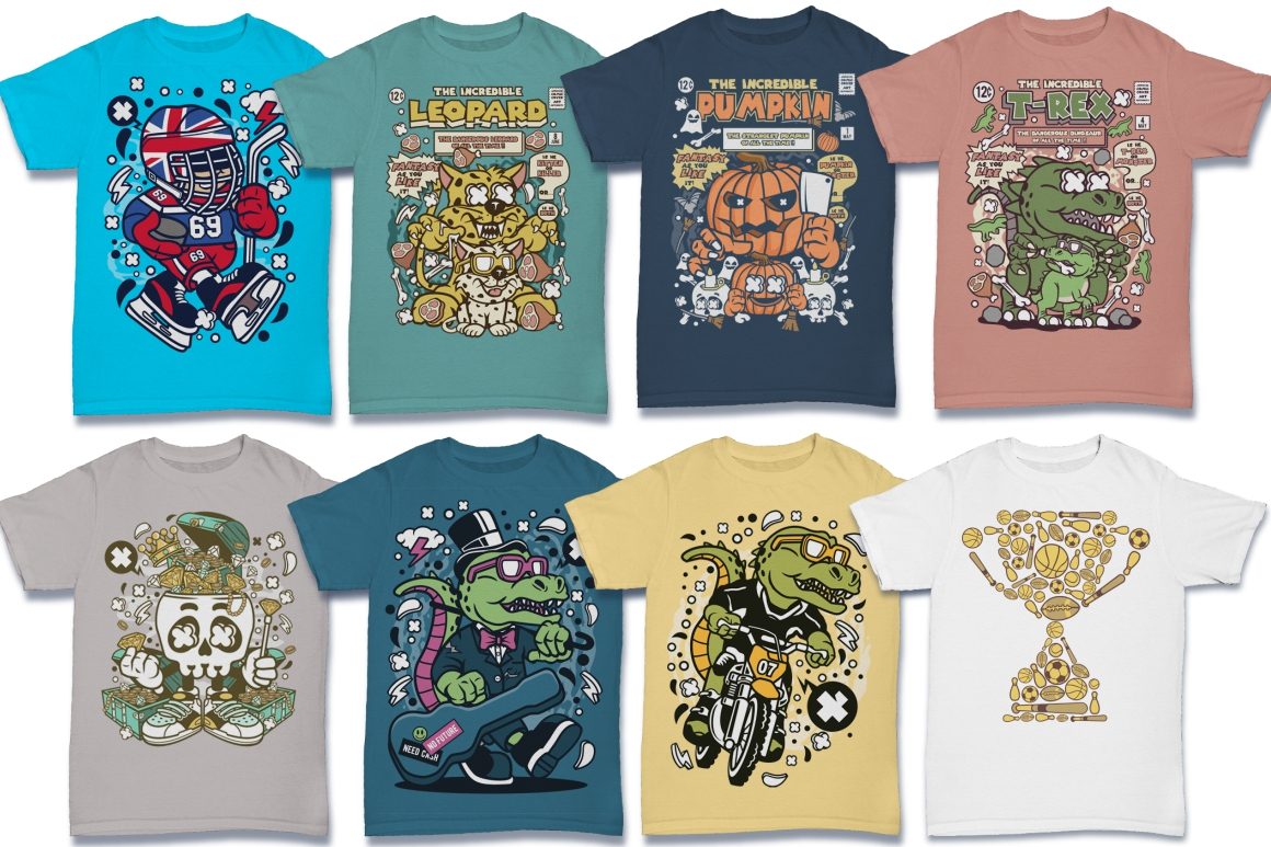 Cartoon Vector #6 Tshirt Design Bundle example image 27