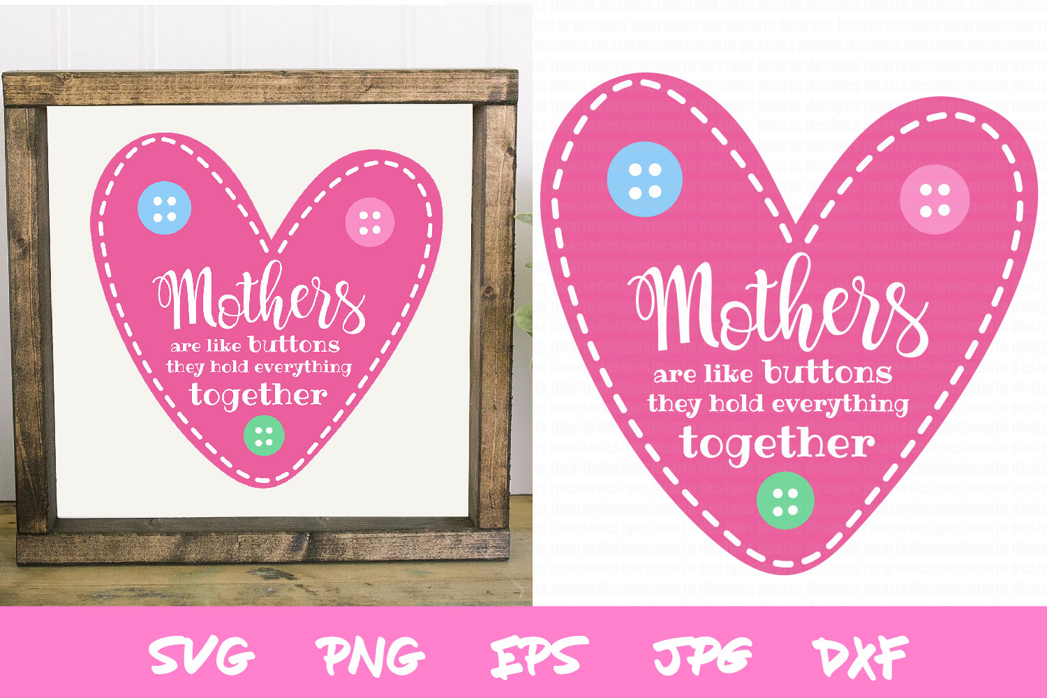 Mothers Day SVG, Mothers are like buttons quote example image 1