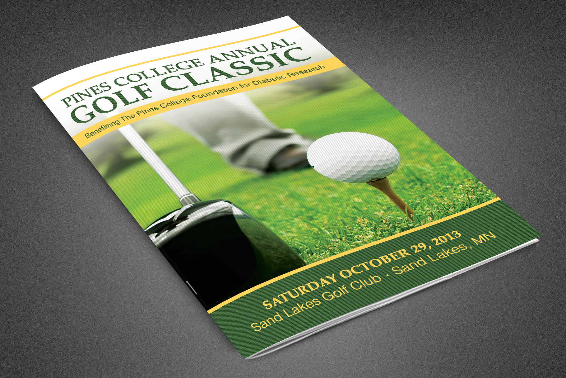 Golf Classic Booklet Template example image 1
