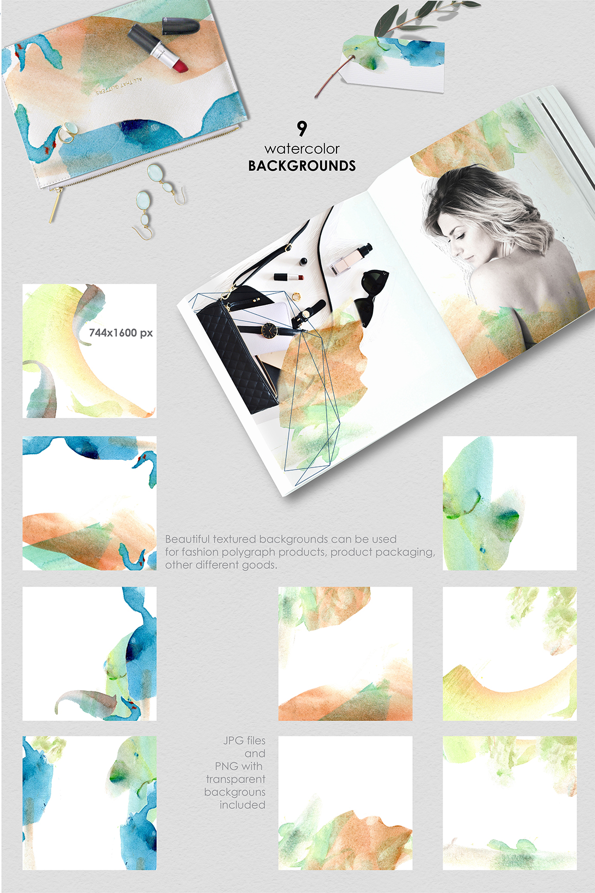 Be an Artist. Watercolor decor kit. example image 4