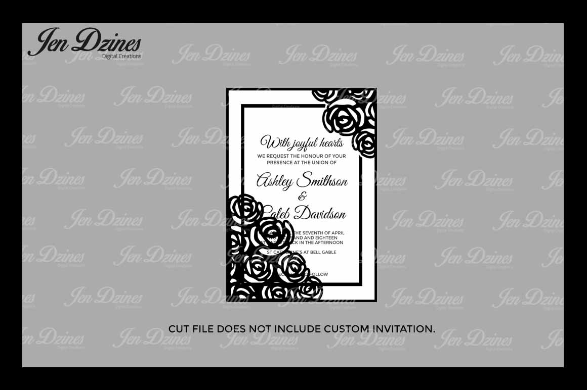 Wedding Gate Card SVG DXF EPS PNG example image 3