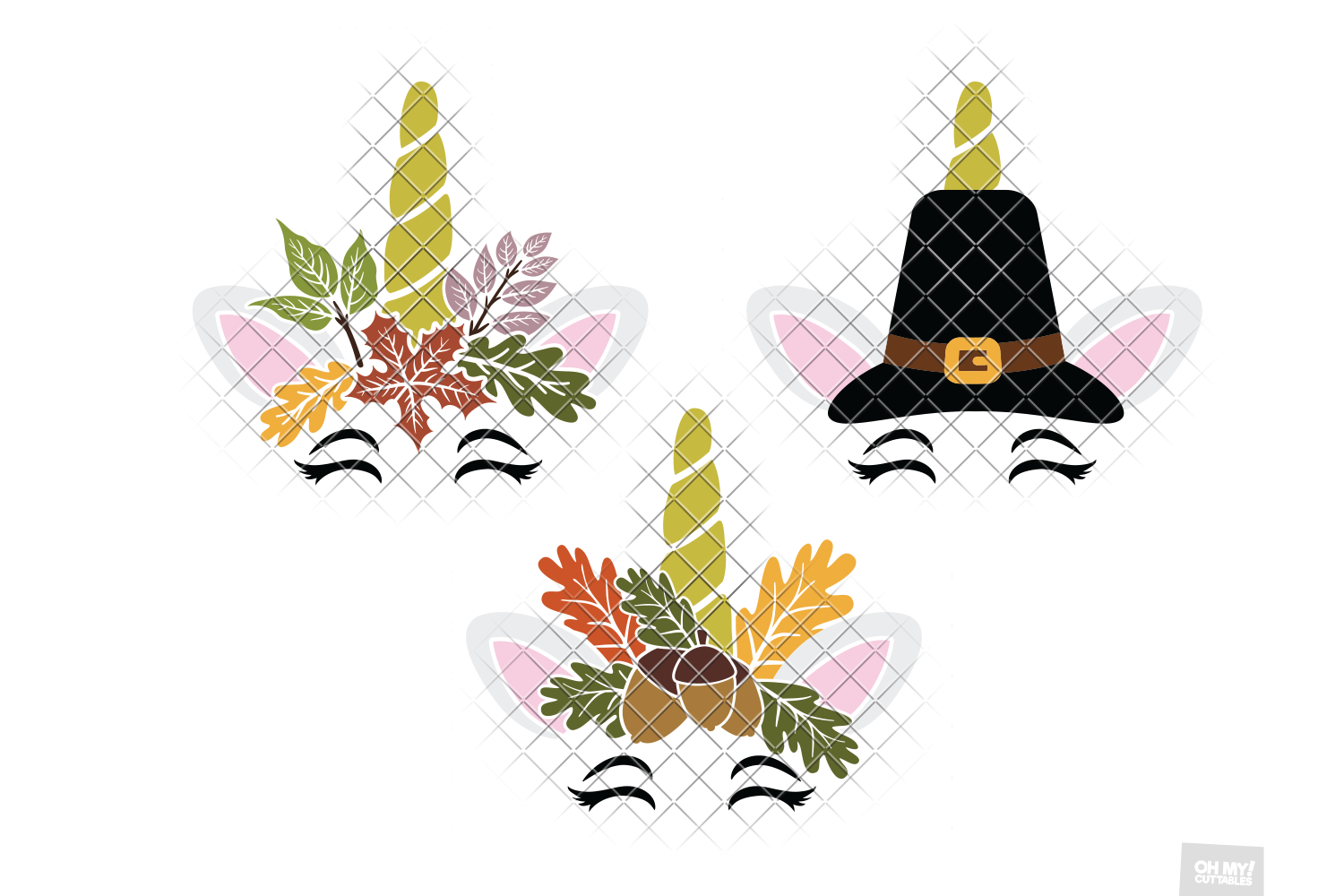 Thanksgiving Unicorn SVG Pumpkin in SVG, DXF, PNG, EPS, JPEG example image 2