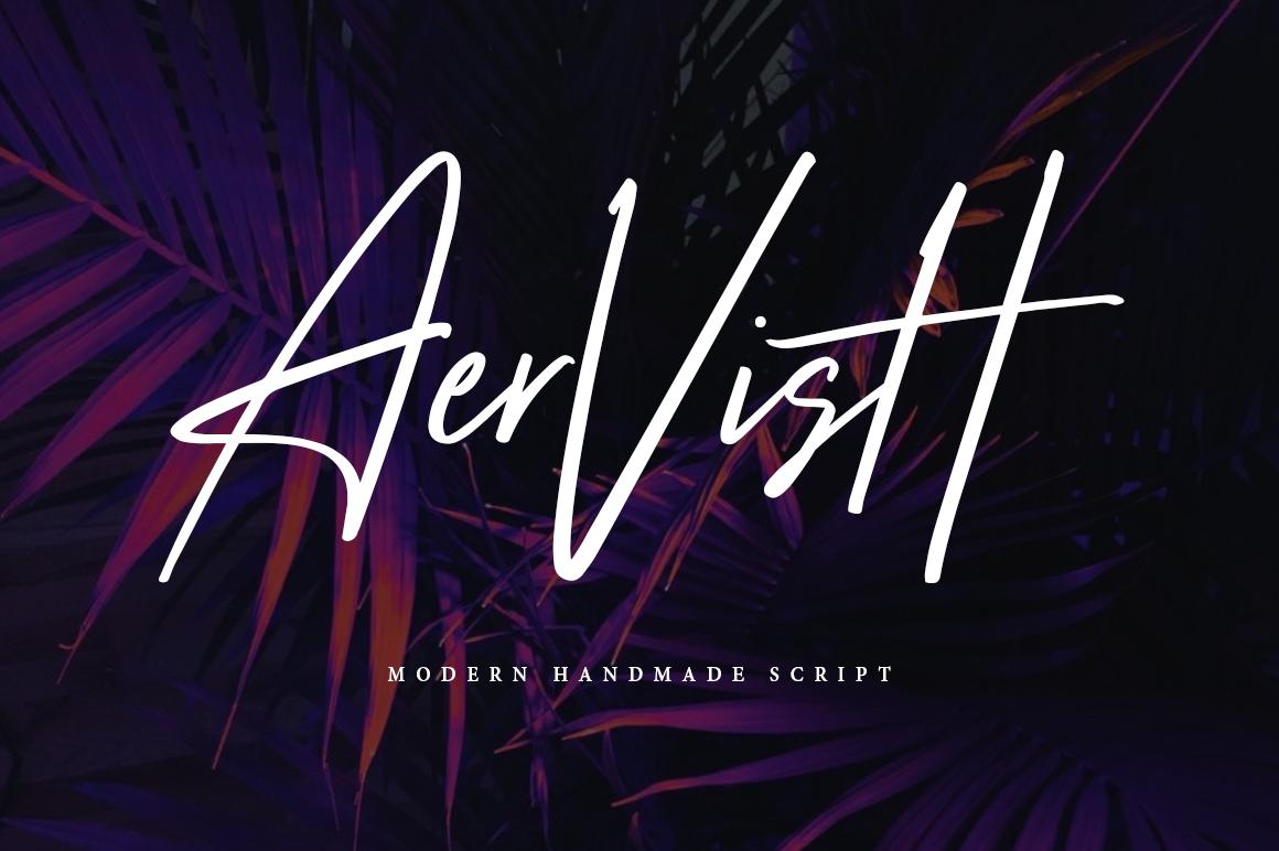 Aervish Typeface example image 1