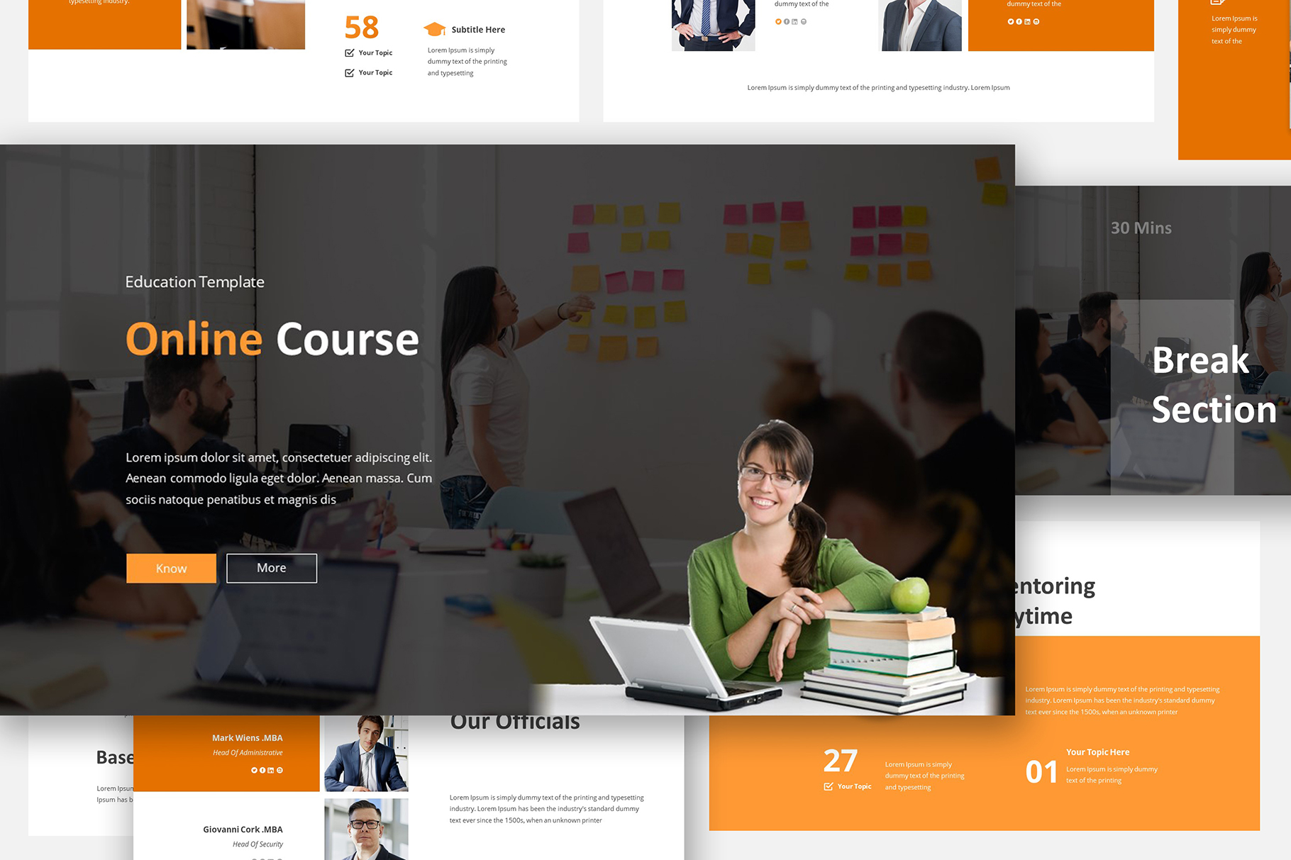 Online Course Powerpoint Template example image 4