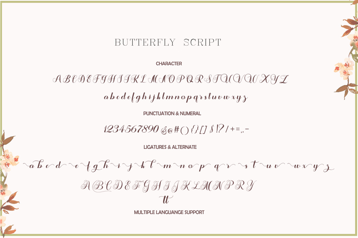 Butterfly Script example image 8