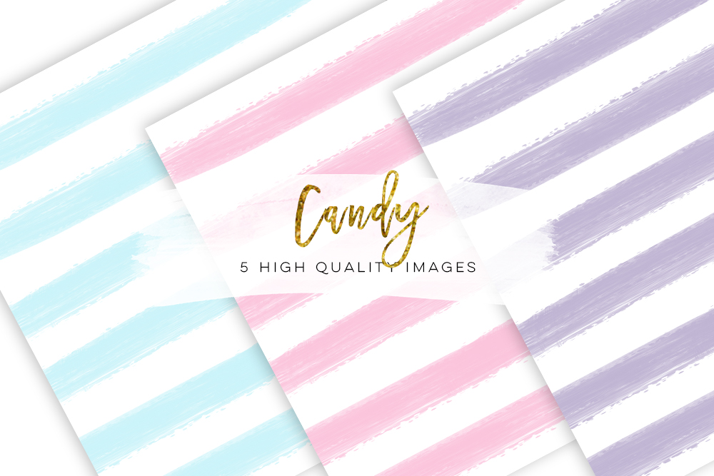 candy paper, Digital Paper Stripes Digital Paper Pack, Colours Candy Paper Pack, Hand Drawn Digital Paper, Sweet Candy Paper Pack Candy example image 2