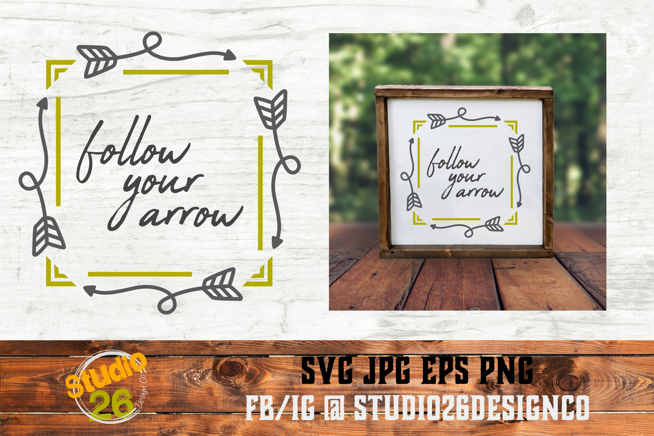 Follow Your Arrow - SVG PNG EPS example image 3