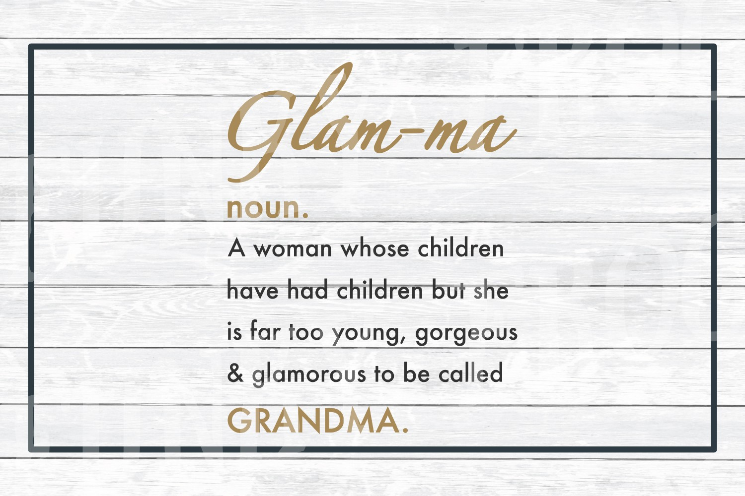 Definition of Glam-ma SVG for Grandma on Mother's Day example image 2