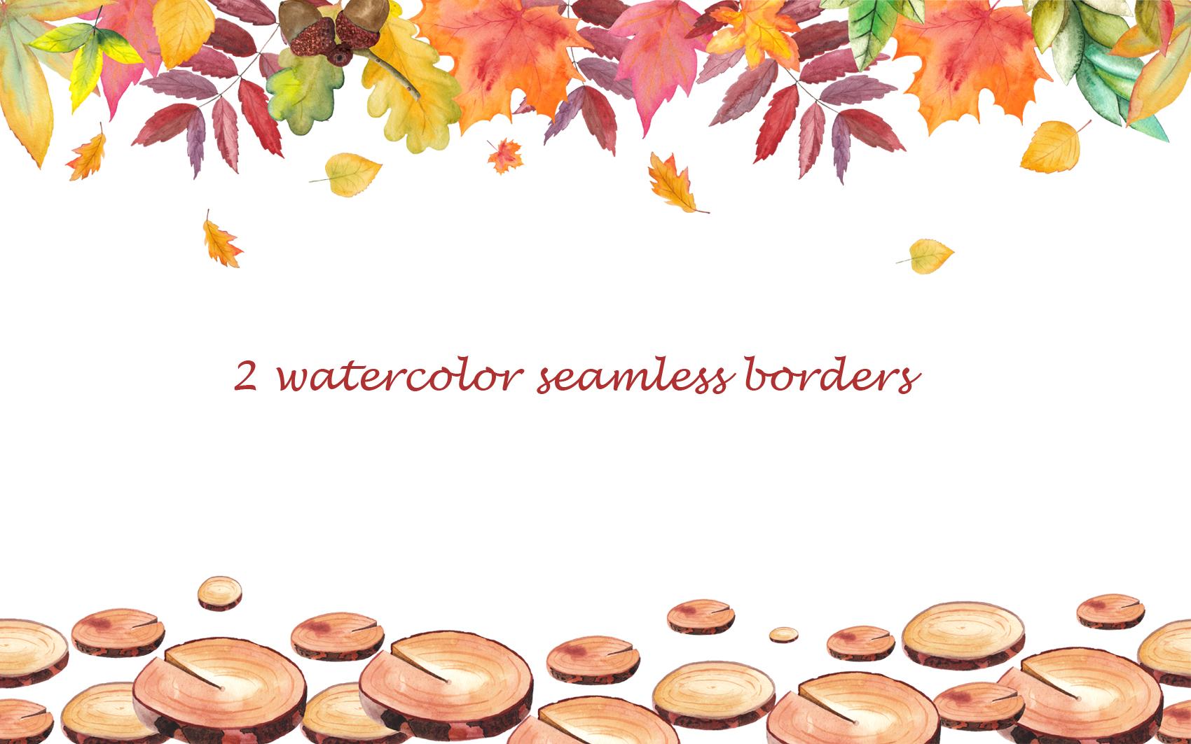 Watercolor autumn BUNDLE example image 30