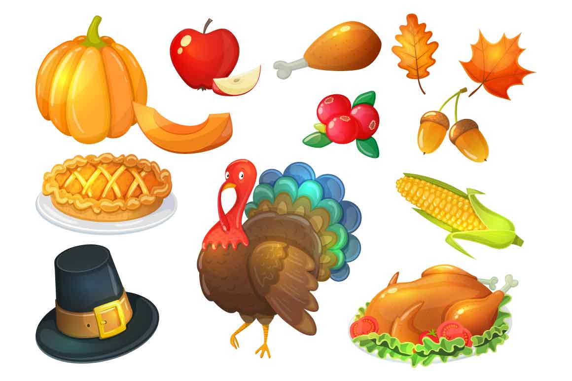 Thanksgiving day - vector Illustrations example image 3