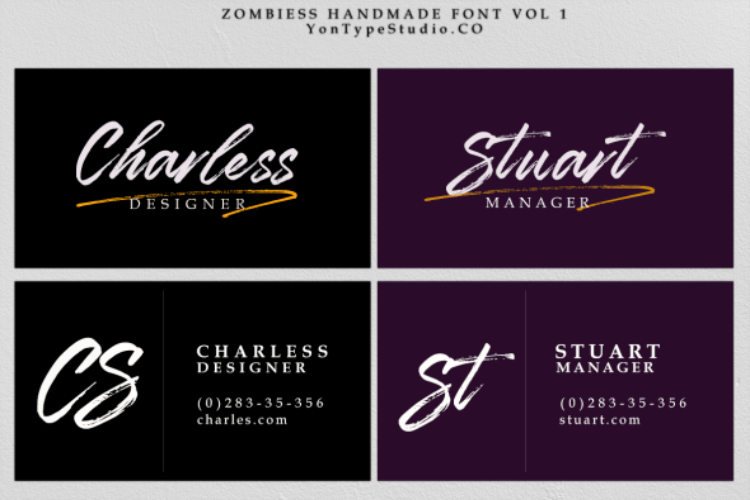 Zombies Hand Brush font example image 8