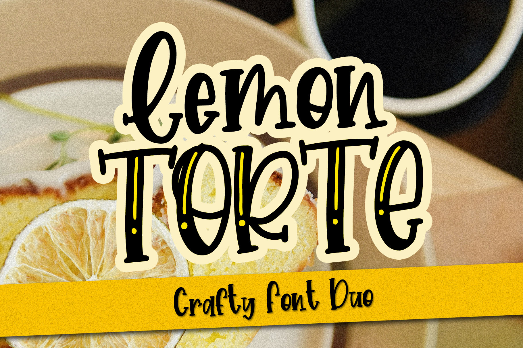 Lemon Torte - Crafty Font duo Solid & Line example image 11