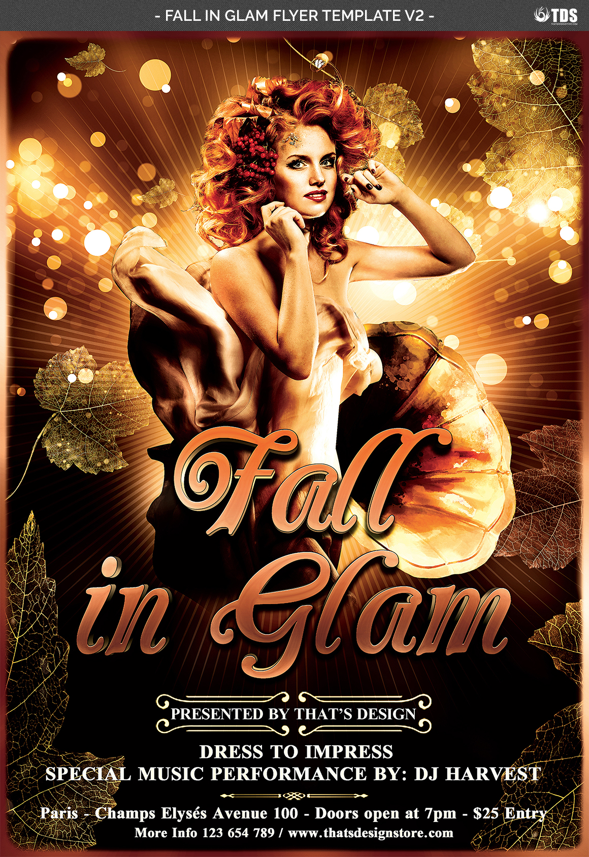 Fall in Glam Flyer Template V2 example image 7