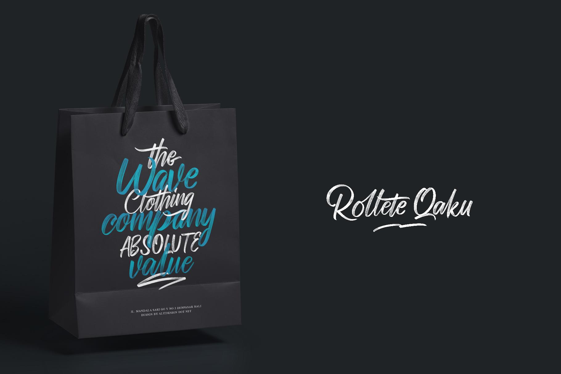 Rollete Qaku SVG & Regular fonts example image 2