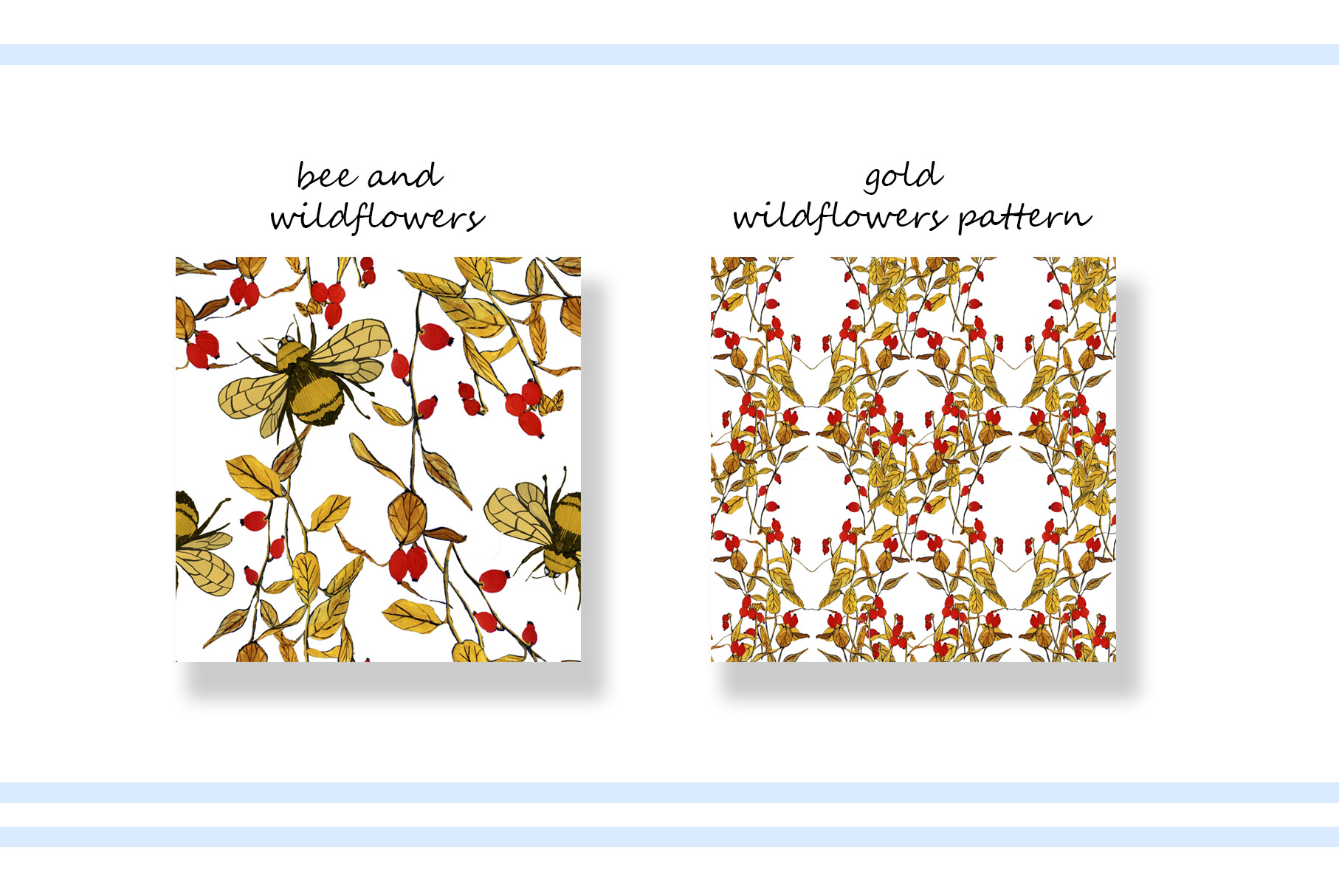 Colorful watercolor illustration. Patterns and elements example image 7