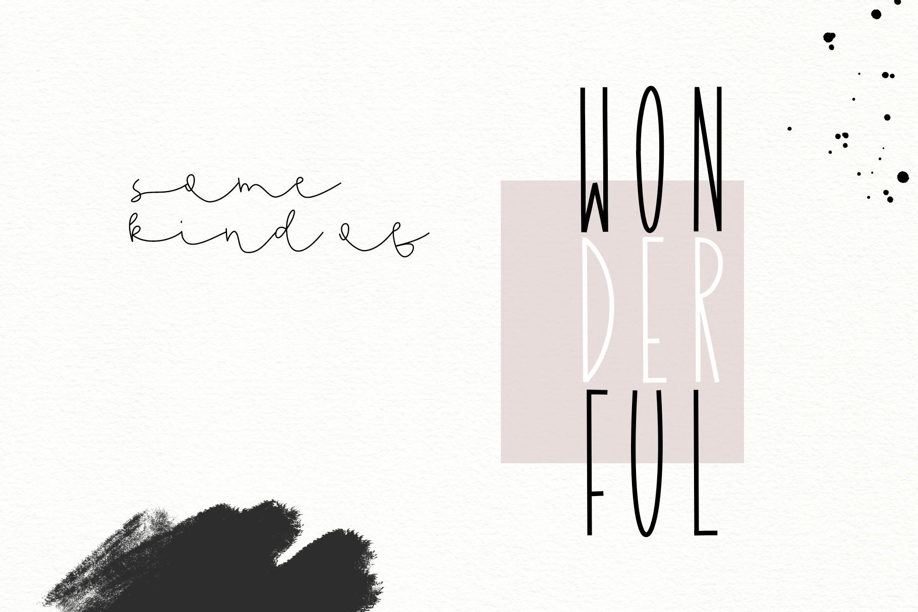 Dandy Dandelions - Handwritten Script & Print Font Duo example image 6