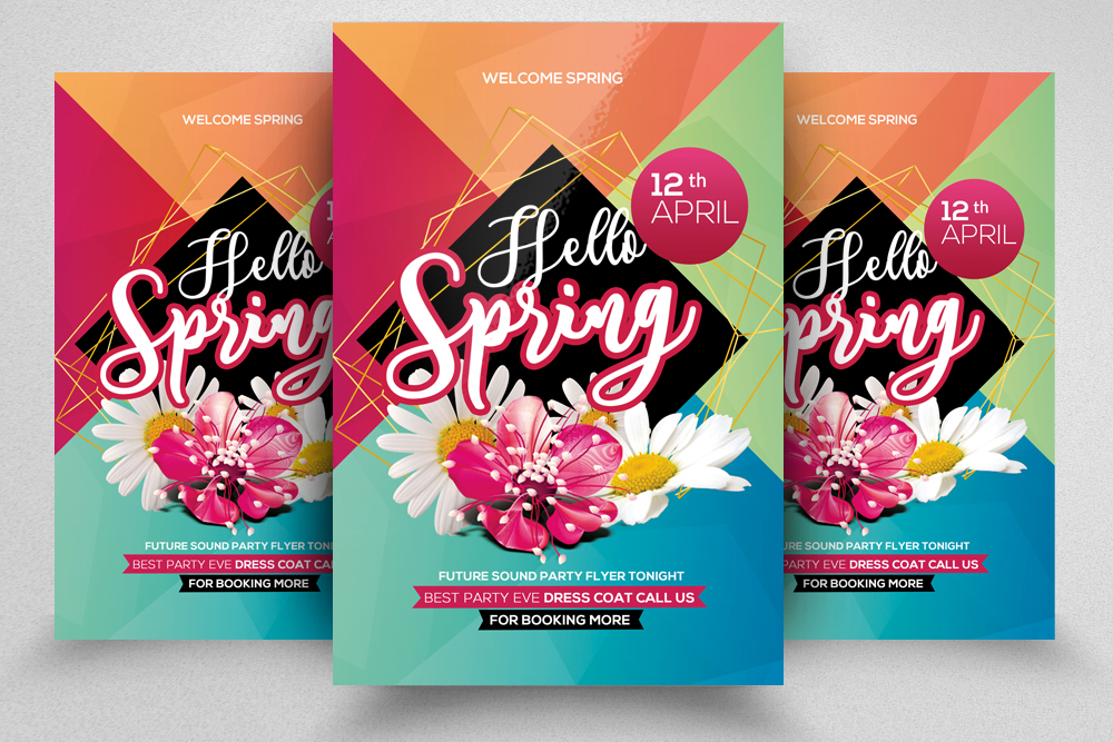 Spring Party Flyer Template example image 1