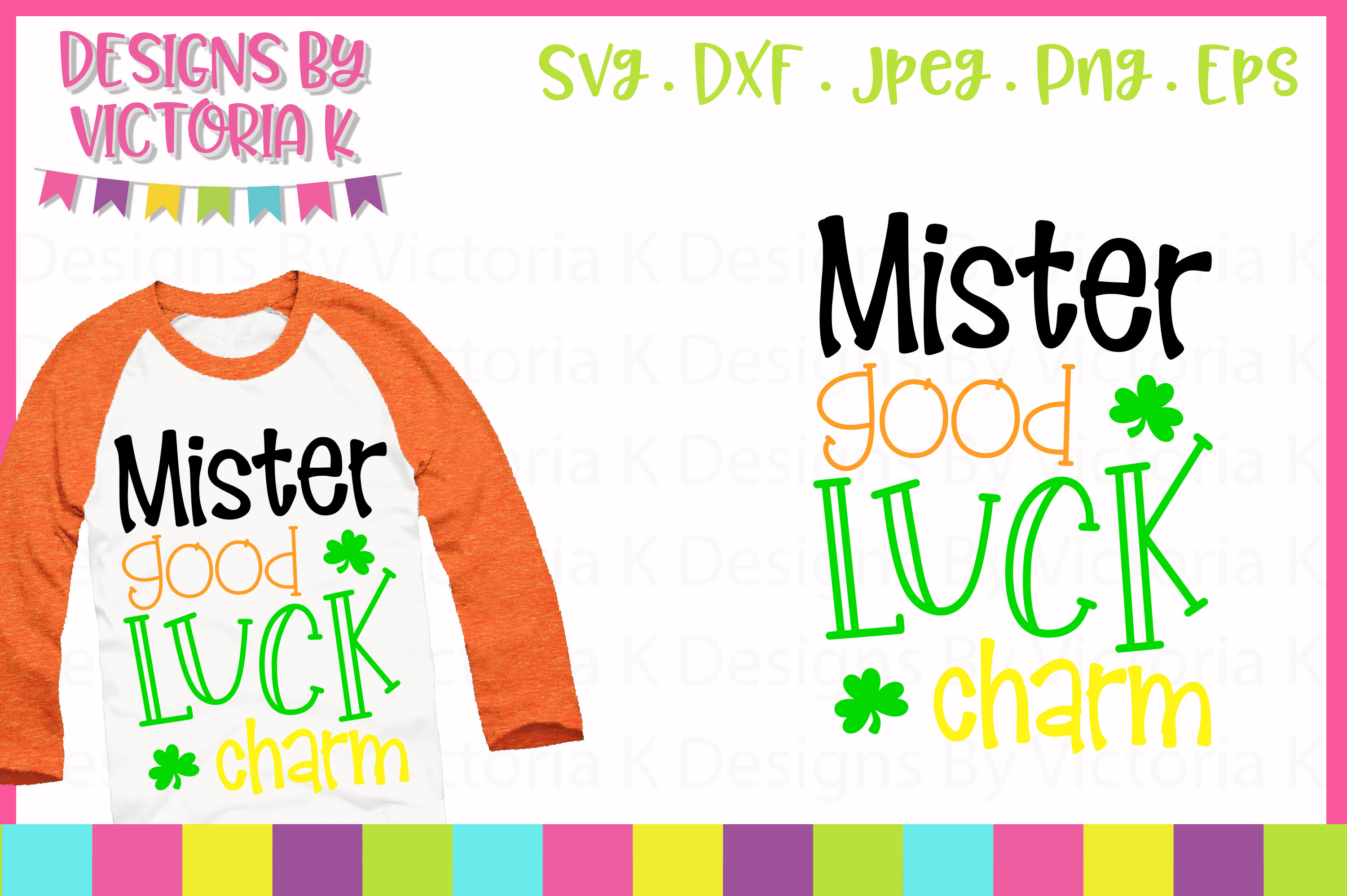 Mister Good Luck Charm SVG Cut File example image 1