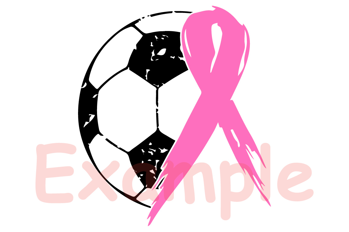 Soccer Tackle Breast Cancer Svg Awareness ribbon 1068s example image 2