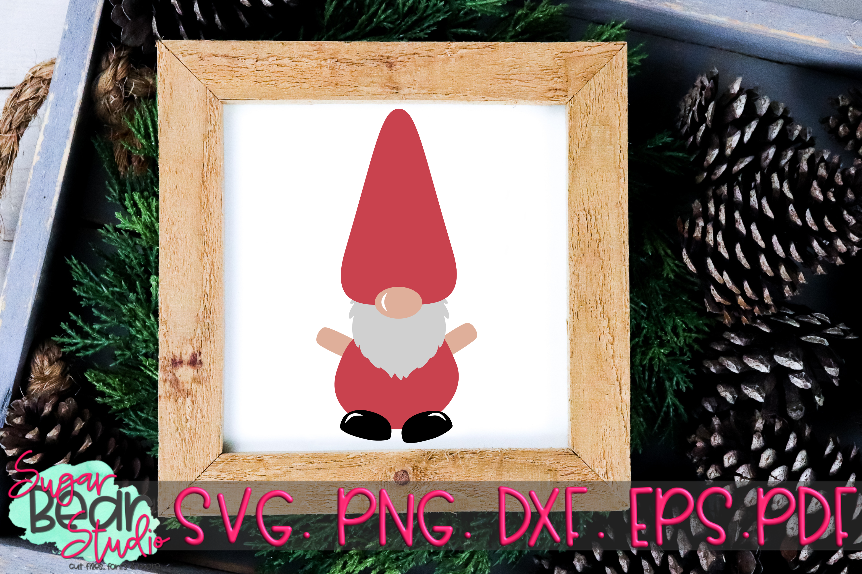 Gnome Pointy Hat - A Gnome SVG example image 2