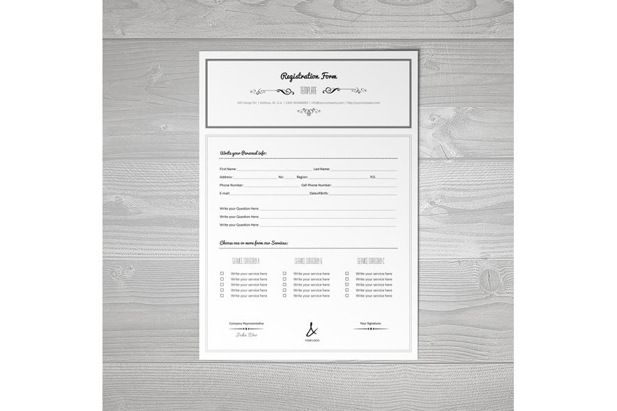 Registration Form Template v3 example image 3