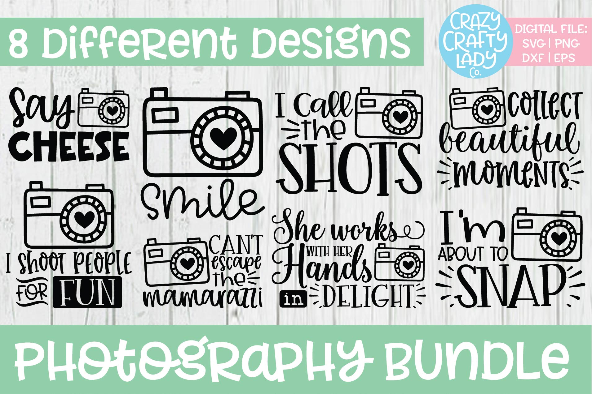 Photography SVG DXF EPS PNG Cut File Bundle example image 1