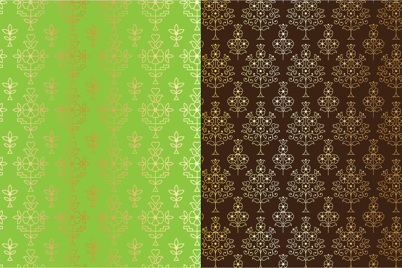 Gold Metallic Paisley Patterns example image 4