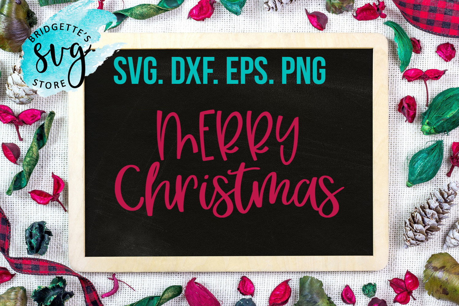 Christmas SVG DXF PNG EPS file example image 1