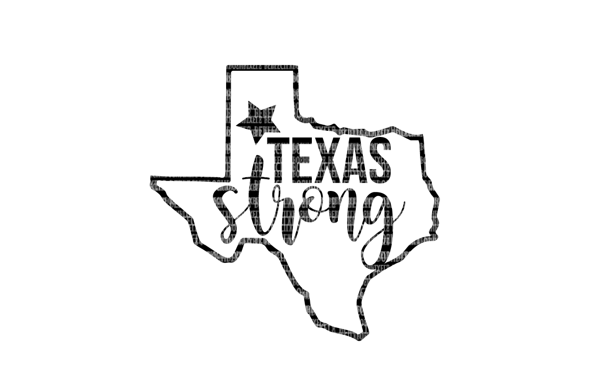 Texas Strong  SVG Files Cut Files Heat Transfer Vinyl Scrapbooking Stencil EPS DXF Silhouette Cameo Cricut Commercial Use example image 1