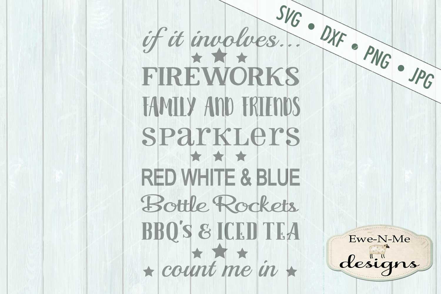 Fireworks Family Friends SVG DXF Files example image 2