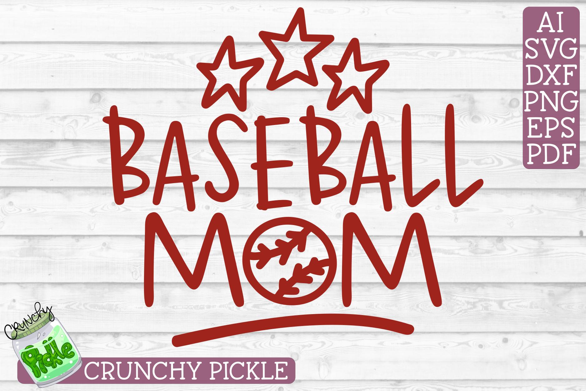 Baseball Mom Sports SVG Cut File example image 2