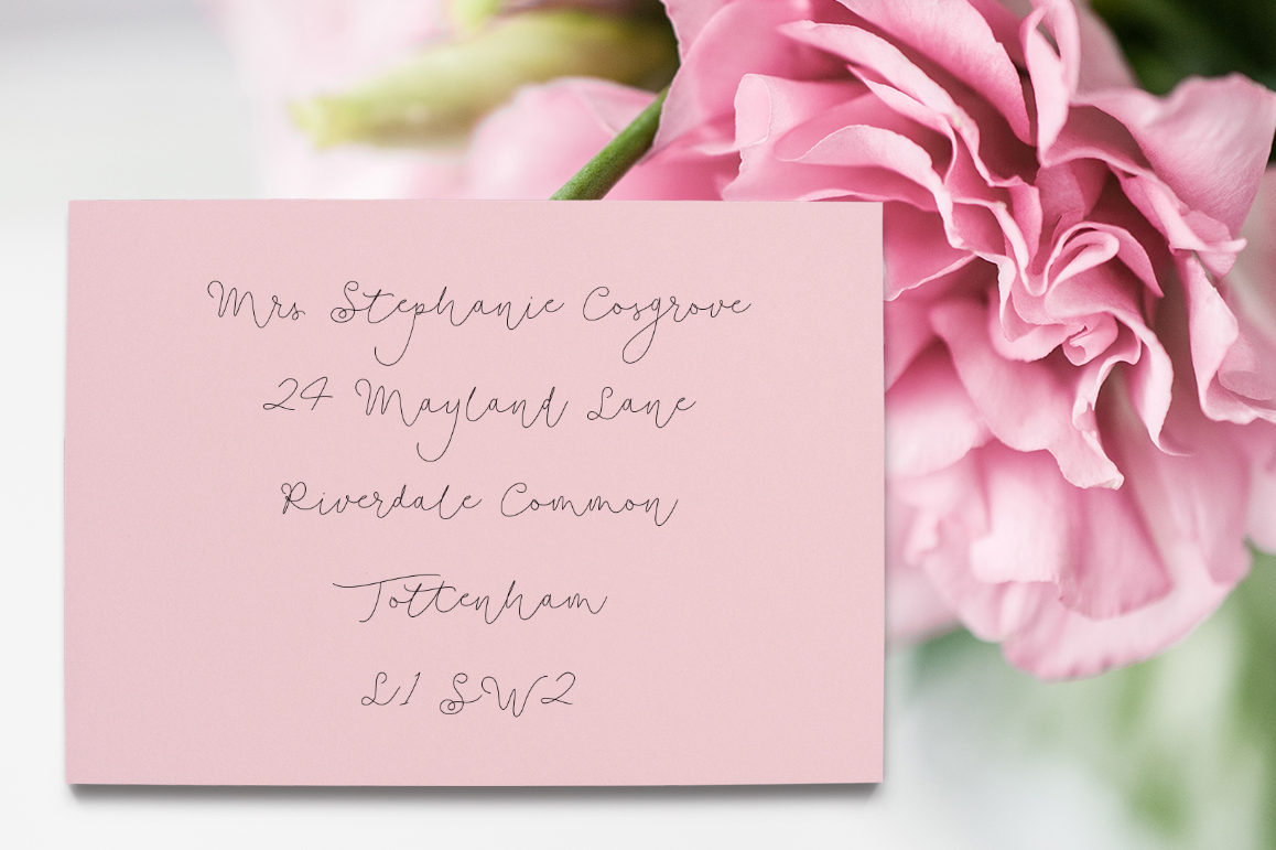 Soft Whisperings wedding font example image 10