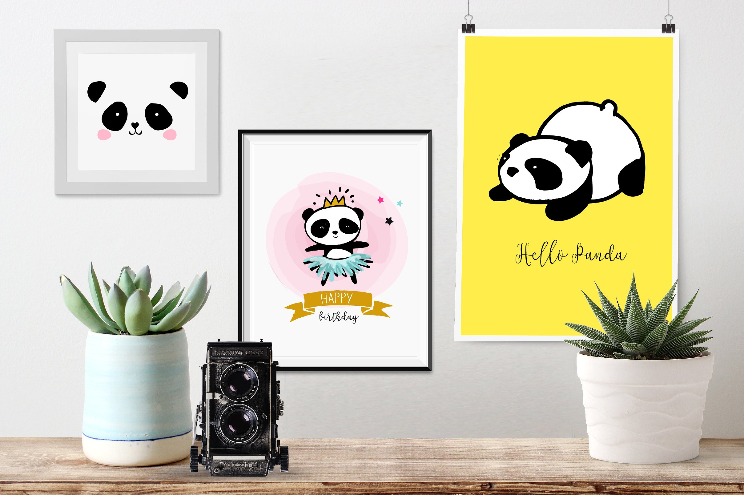 Panda bear design collection example image 5