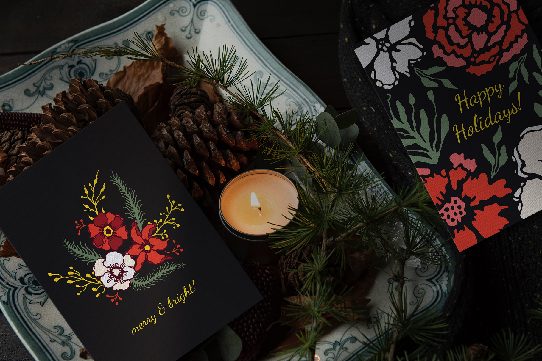 Winter Floral Patterns & Illustrations example image 20