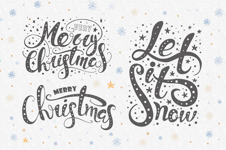 Vector Christmas lettering + bonus example image 2