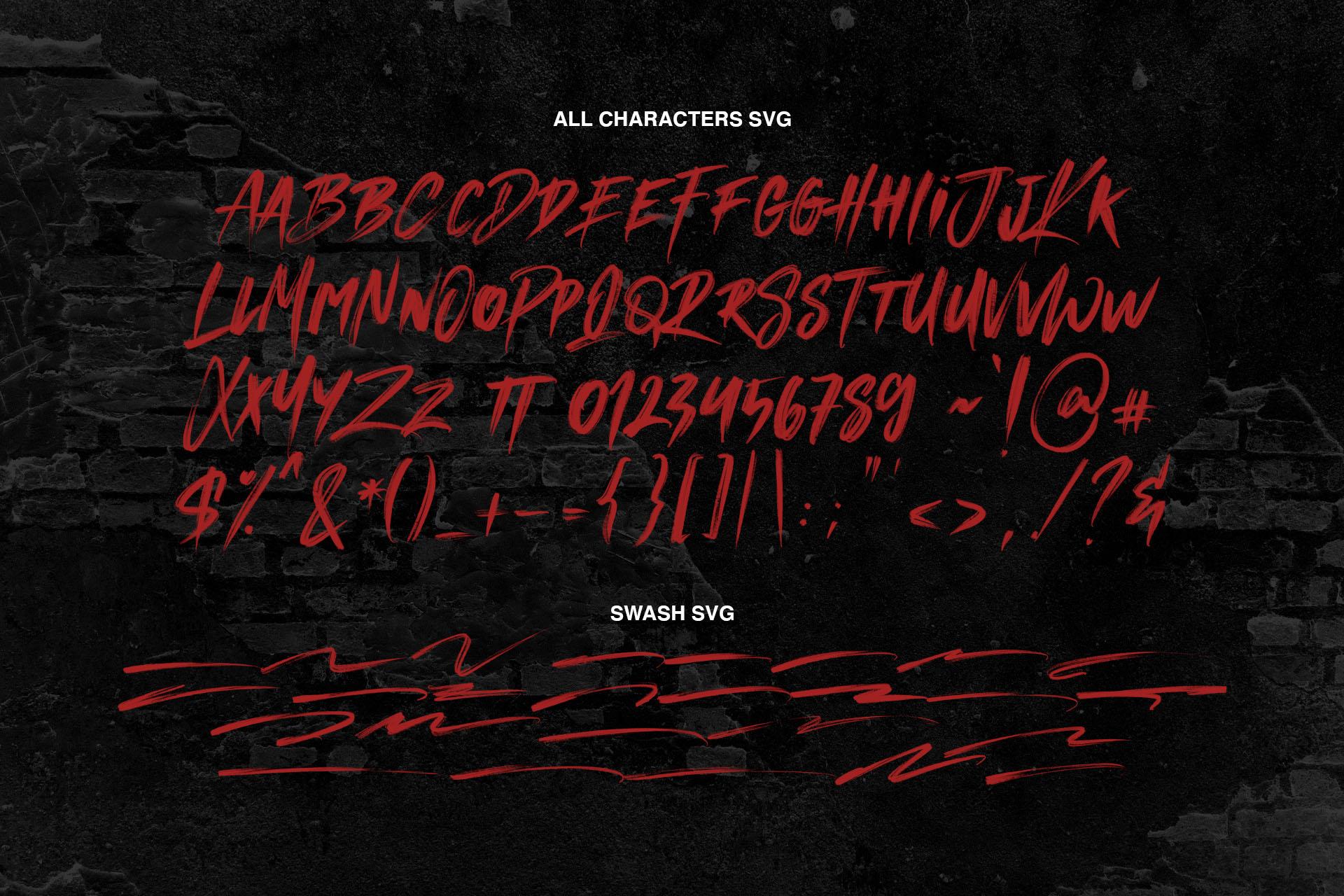 MANKIND - SVG Brush Font example image 9