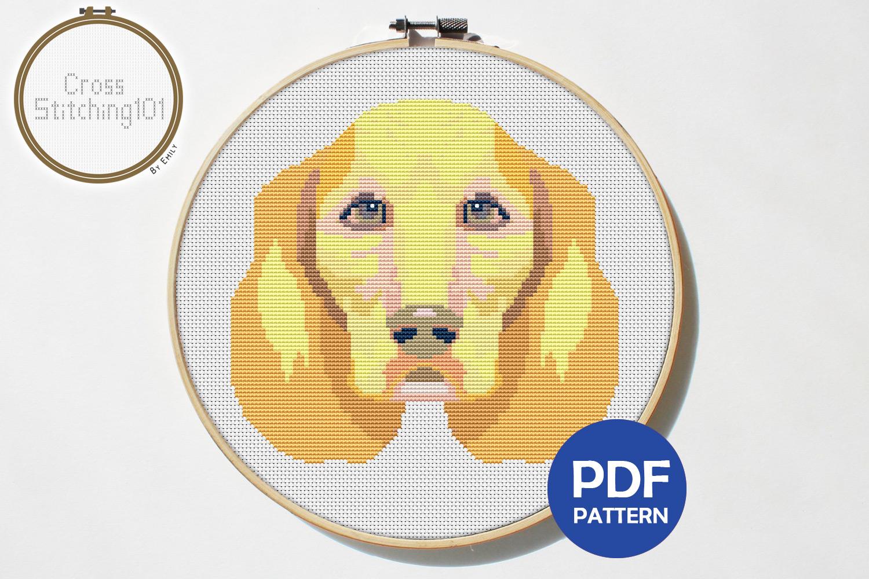 Labrador Dog Cross Stitch Pattern - Instant Download PDF example image 1