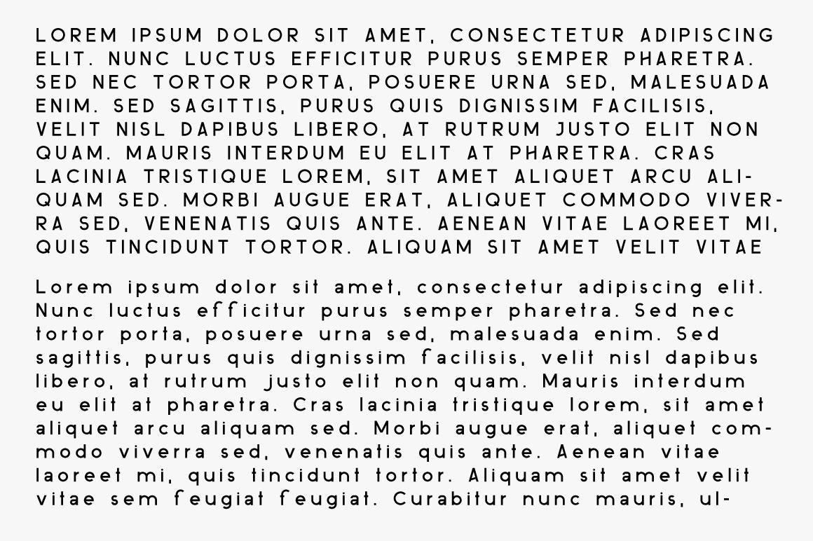 ovine Monospace Sans Serif Typeface example image 7