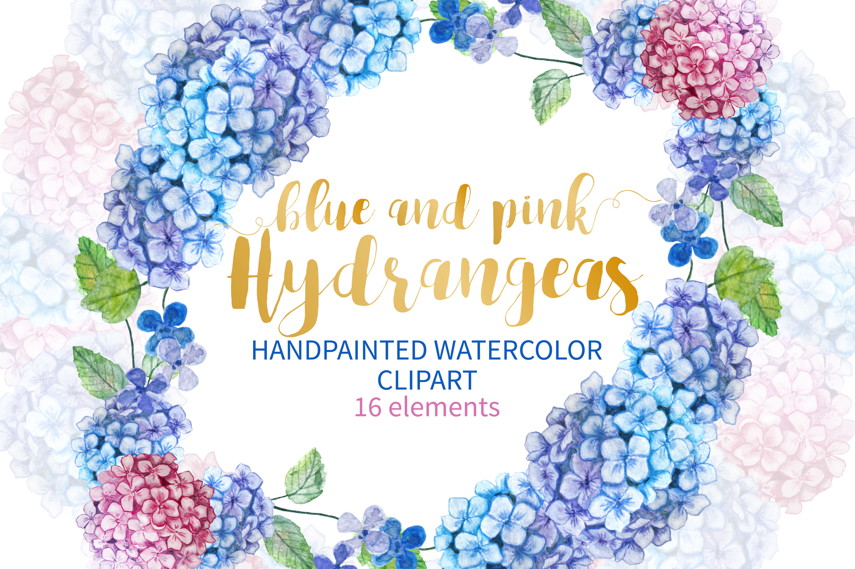 watercolor hydrangea clipart rh designbundles net hydrangea clip art free hydrangea clip art free