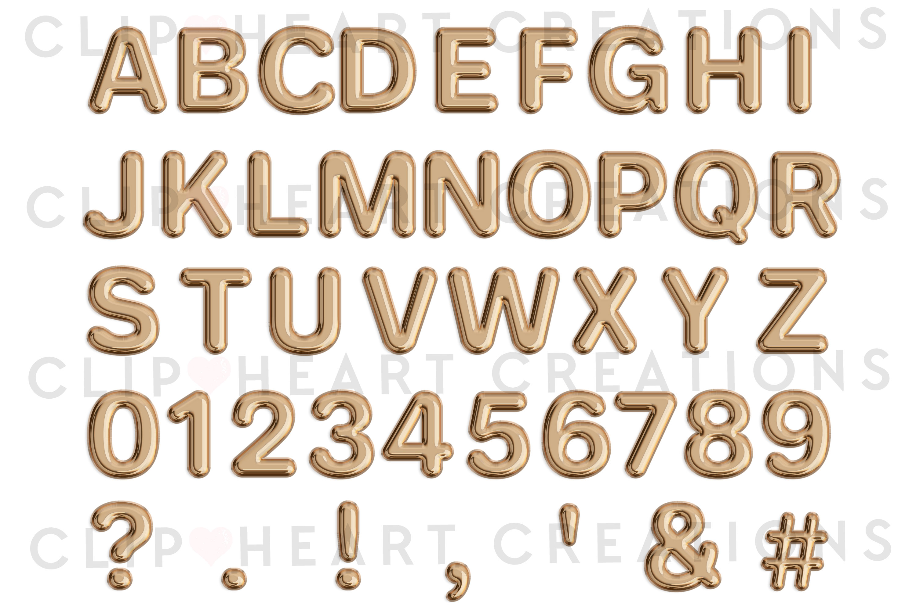 Champagne Balloon Alphabet & Numbers example image 2