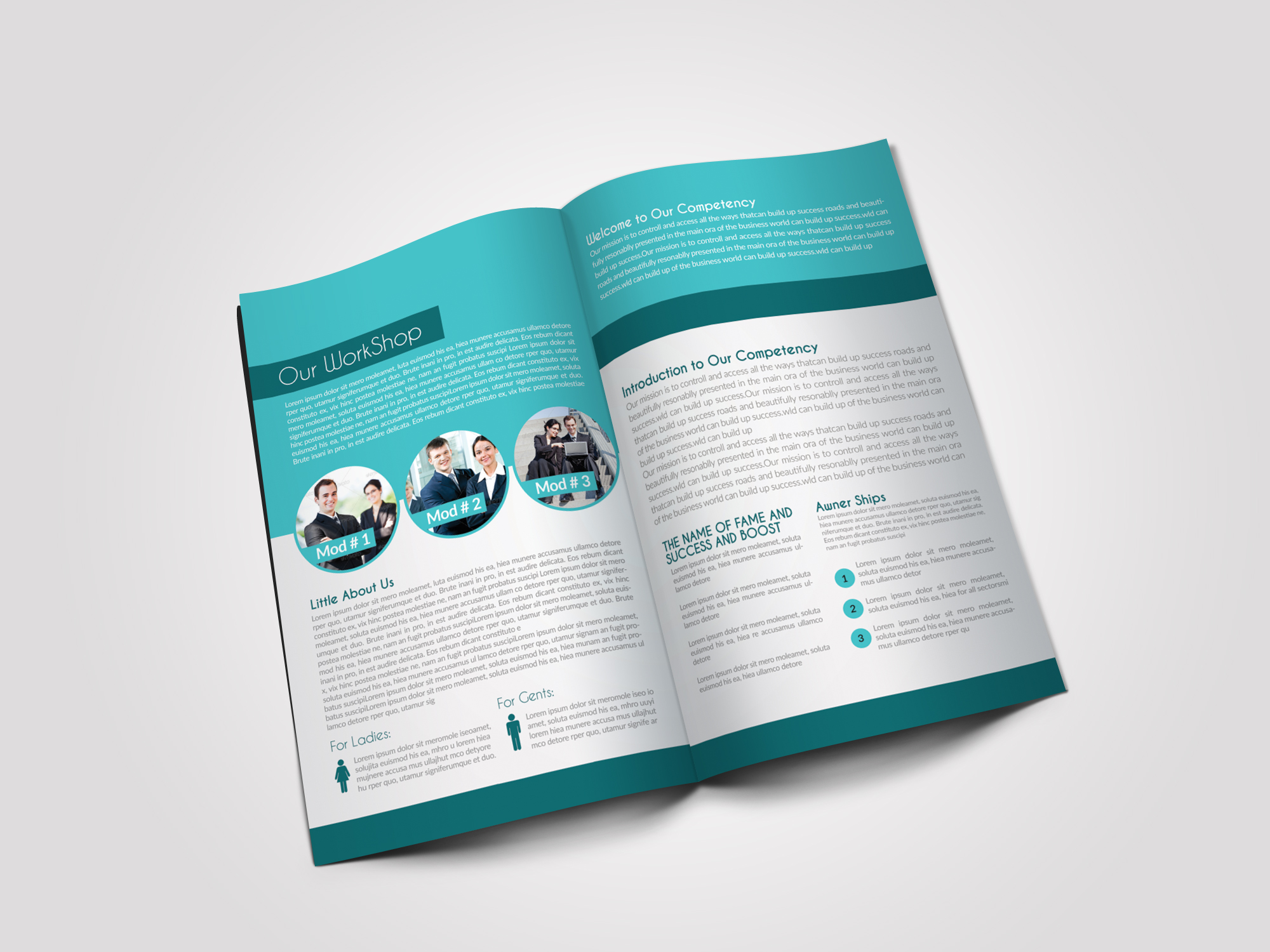 12 Pages Professional Business Bifold Brochure example image 7