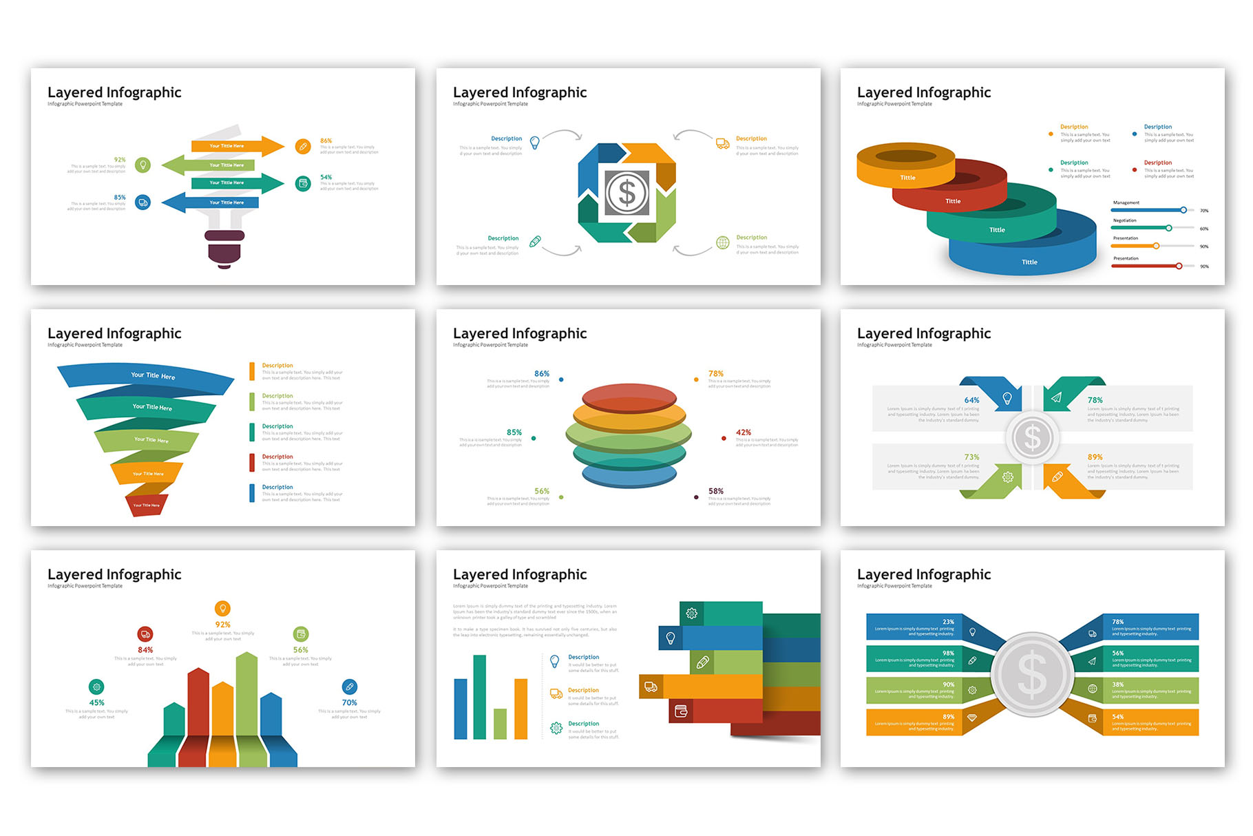 Layered Presentation - Infographic Template example image 4