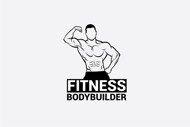 bodybuilder logo 3 example image 3