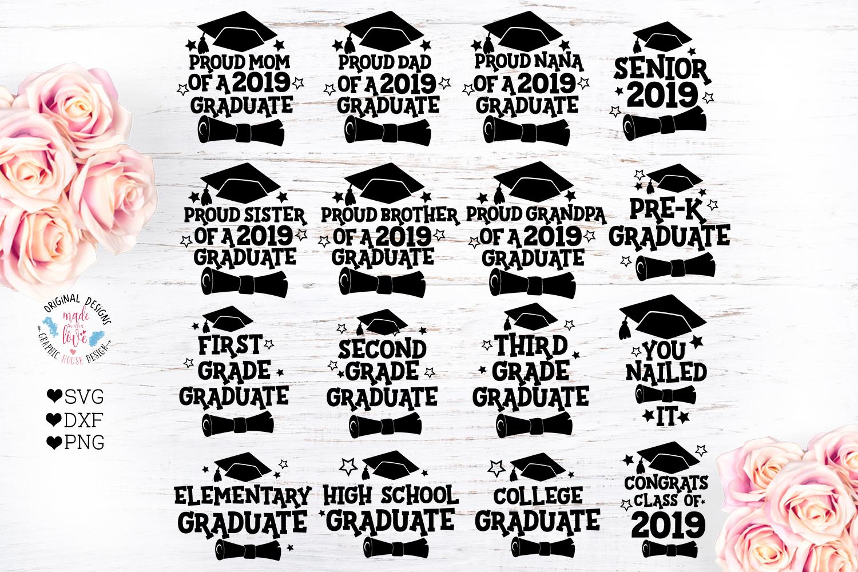 Graduation Bundle - 2019 Graduation SVG example image 1