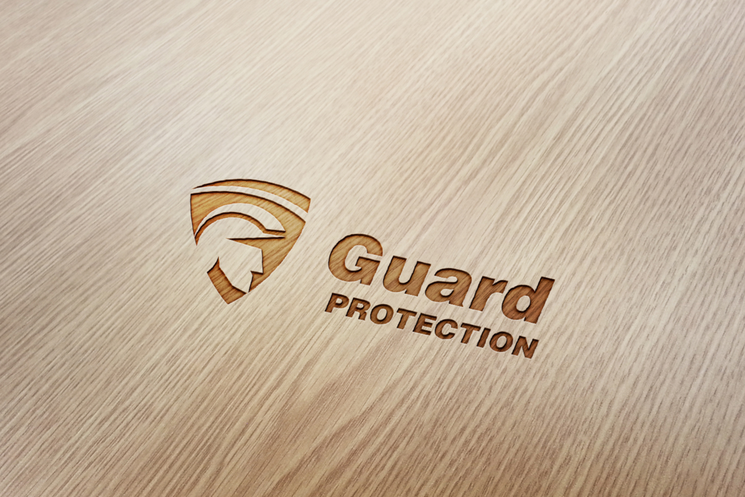 Police & Shield Logo, Guard Protection. example image 3