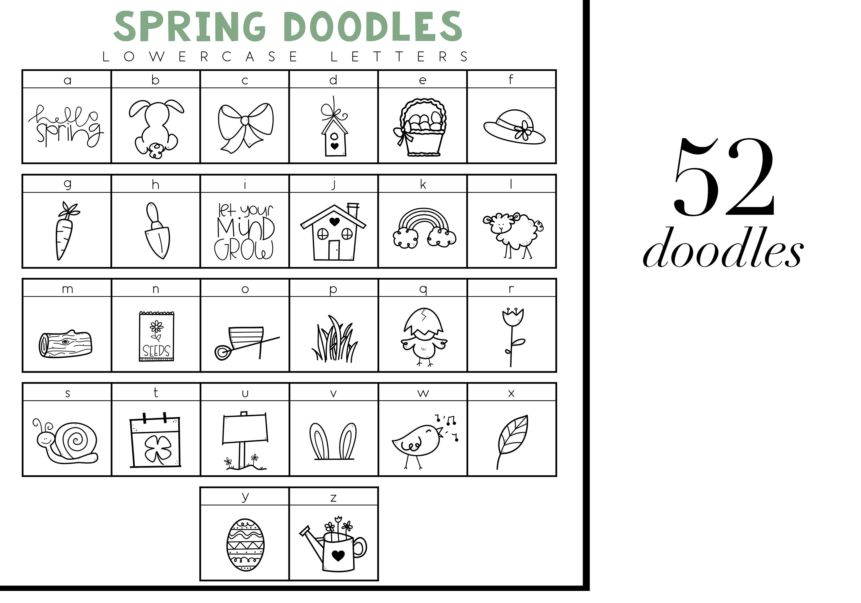 Spring Fling - A Doodle Font example image 3
