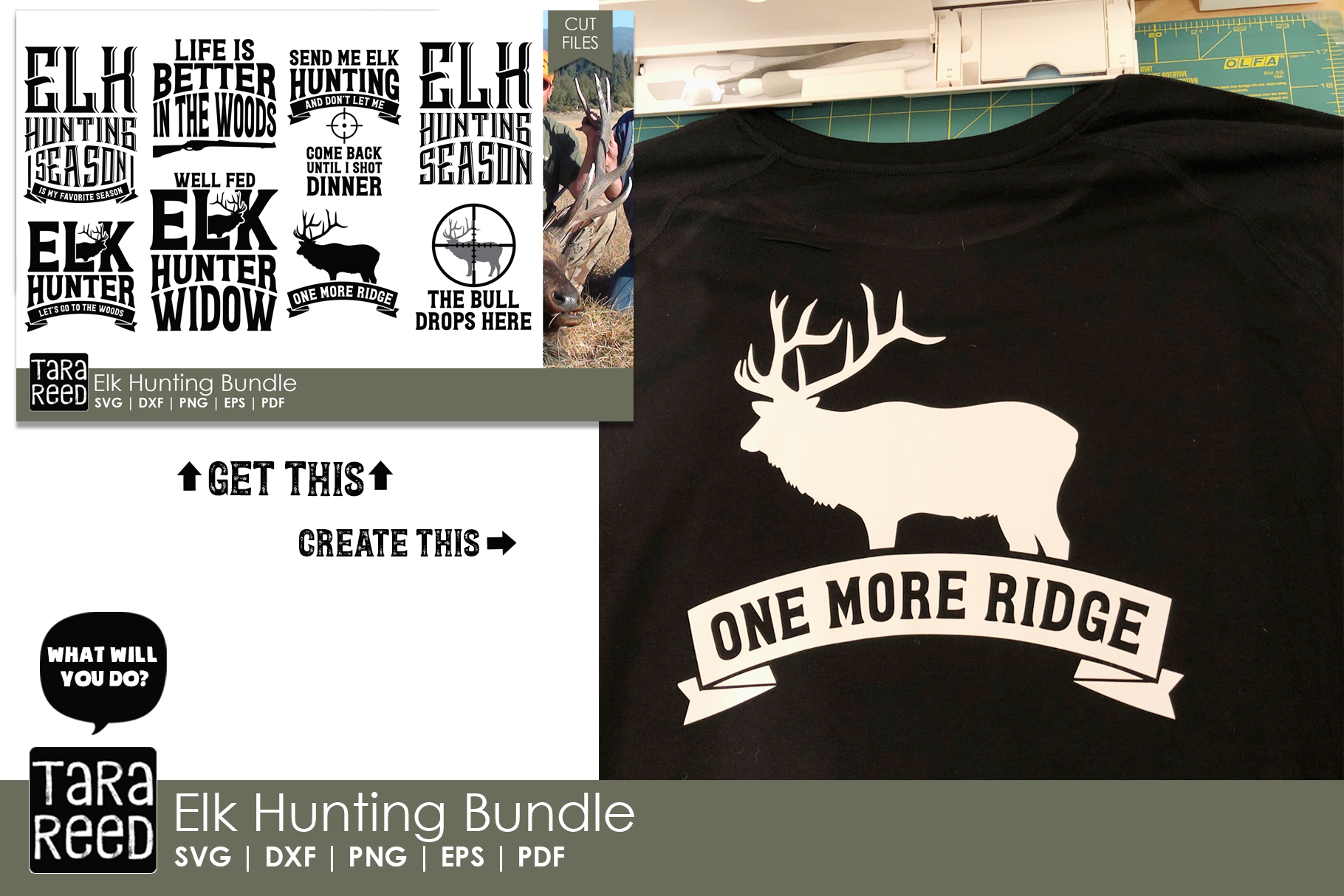 Elk Hunter - Hunting SVG and Cut Files for Crafters example image 2