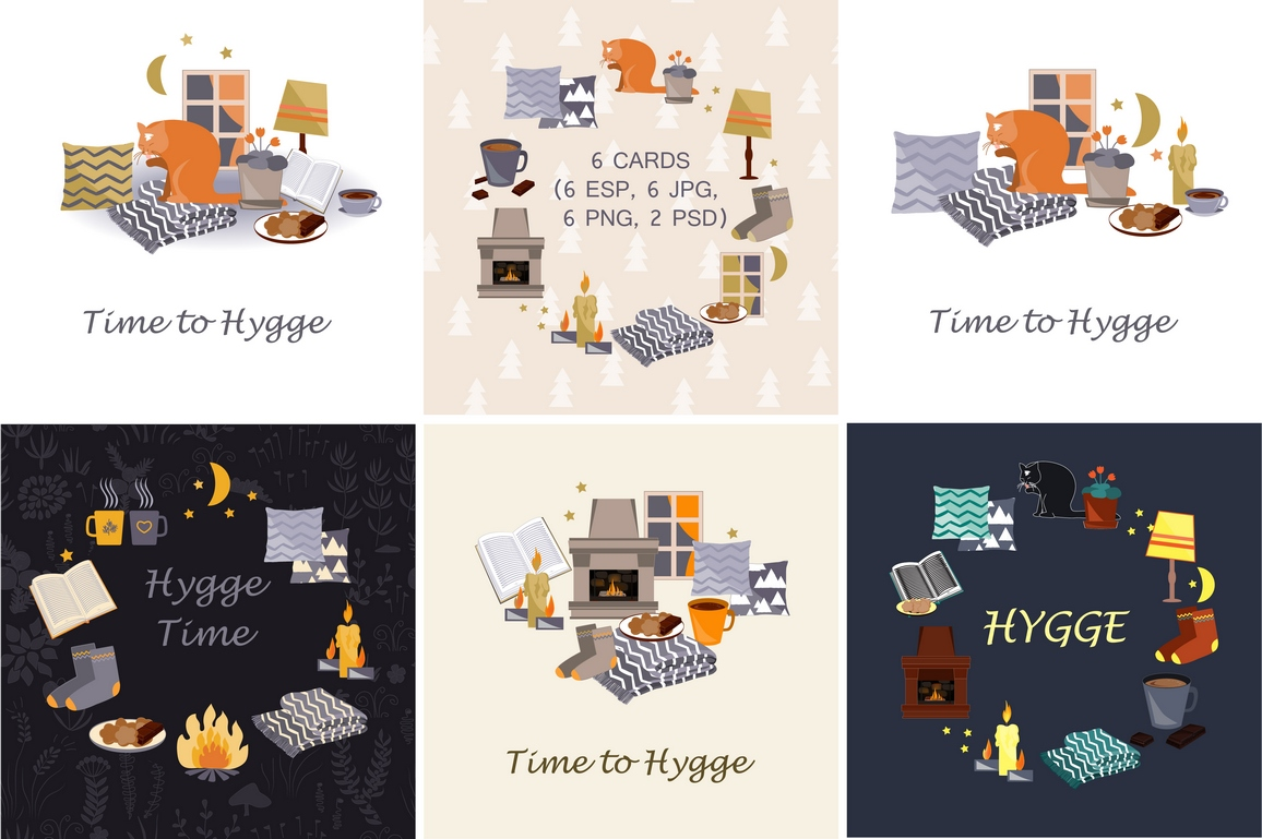 Time To Hygge. Vector Collection example image 2