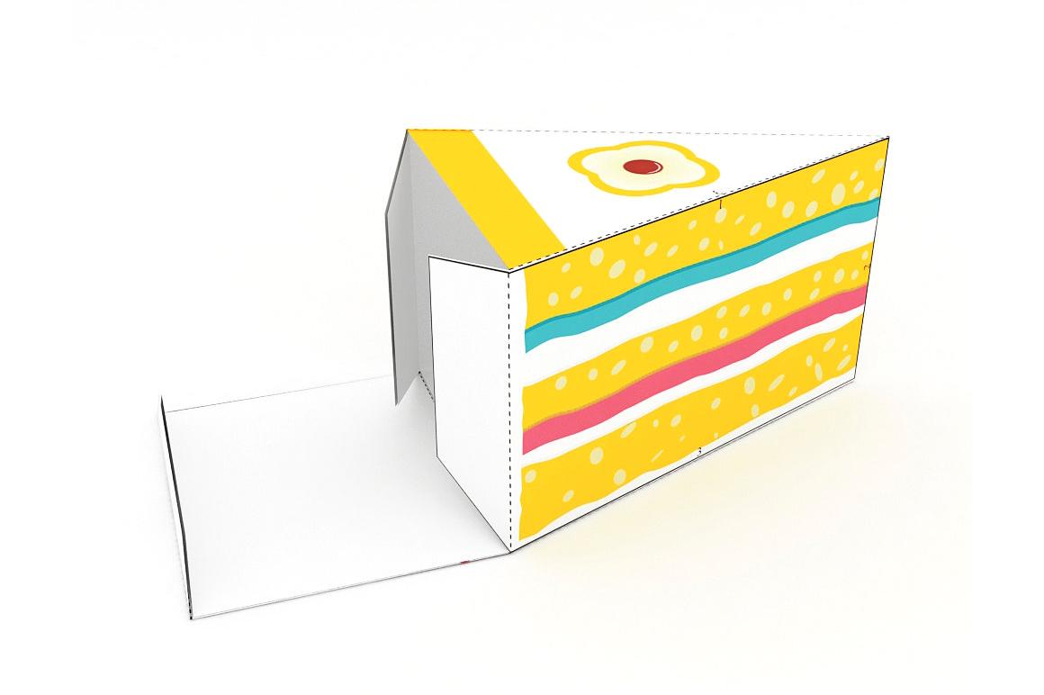 DIY Cake favor - 3d papercraft example image 4